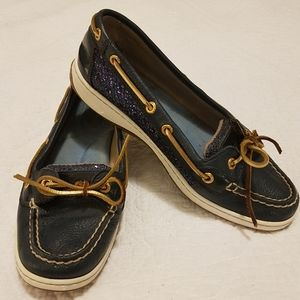 Sperry Top Siders in Navy Sparkle